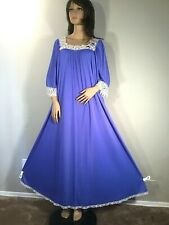Vintage Claire Sandra Lucie Ann Nylon Nightgown Eyelash Lace Extra Long 58�