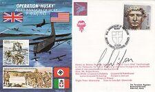43/7dC Operation Husky FLown Islander,dropped Red Devils Signed G Wilson Parachu