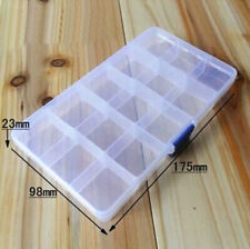 15 Slots Adjustable Plastic Fishing Lure Hook Tackle Box Storage Case Organizer