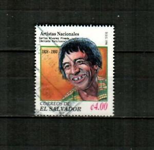 EL SALVADOR Scott's 1440 ( 1v ) Carlos Alverez Pineda F/VF Used ( 1996 )