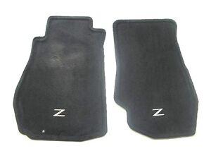 2003 2004 2005 NISSAN 350Z BLACK CARPET FLOOR MATS RUGS OEM GENUINE 03 04 05 #1