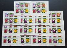 2009 Malaysia Garden Flowers Definitive Stamps in 14 States Miniature Sheets MNH