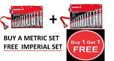 Sidchrome SCMT22210 & SCMT22410 27pce Ring & Open End Metric & A/F Spanner Set