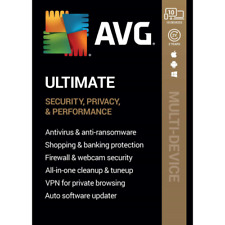 AVG Ultimate 2021 | 10 Device 2 Years | TuneUp | Internet Security | Secure VPN
