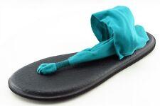 Sanuk Size 8 M Blue T-Strap Fabric Women Sandal Shoes