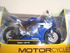 MINIATURE MOTO YAMAHA YZF R1  BLEUE 1/12 MAISTO  NEUVE EN BOITE