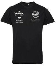 Derek Chisora  Black Sports Performance Polyester Boxing T-Shirt White Print