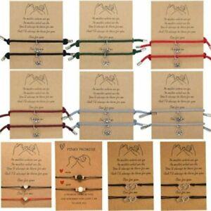 2Pcs Couple Magnet Attract Bracelet Adjustable Charm Women Men Party Jewelry UK