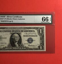 1935F-$1 SILVER CERTIFICATE ********STAR*******NOTE,GRADED BY PMG GEM UNC 66 EPQ