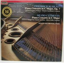 "KUHLAU CLEMENTI PIANO CONCERTO FELICJA BLUMENTAL GUSCHLBAUER ZEDDA 12"" LP (e577)"