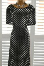 ~ BASLER ~ Black & White Silk Polkadot Dress Size 22 Suit Mother of the Bride
