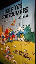 LES P'TITS SCHTROUMPFS  ! affiche cinema bd animation peyo