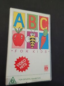 ABC For Kids VIDEO HITS VHS Video Tape 1991 The Wiggles Peter Combe + more