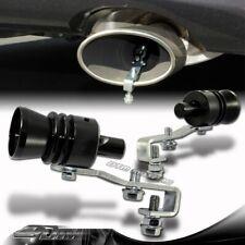 1x Turbo Sound Black Fake Blowoff BOV Simulator Exhaust Muffler Pipe Whistle L