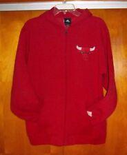 adidas NBA Chicago Bulls Full Zip Hoodie Sweatshirt ~ Unisex Youth L 14 - 16 EUC
