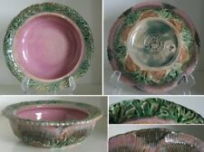 Pretty/Old Majolica ETRUSCAN Seaweed Butter Dish, Missing Lid, Circa 1880