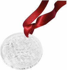 Lalique Crystal 2020 Poinsettia Clear Christmas Ornament #10724700