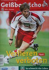 Programm 2003/04 1. FC Köln - Werder Bremen