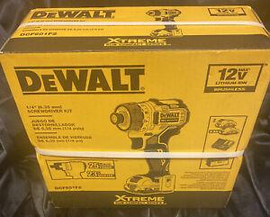 Factory Sealed DEWALT DCF601F2 XTREME 12V MAX BL 1/4 in. Li-Ion Screwdriver Kit
