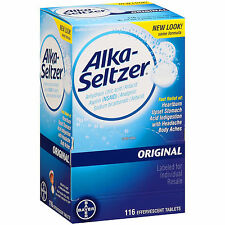 Alka-Seltzer Original 116 effervescent Tablets Antacid and Analgesic