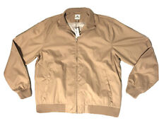 Nwt Peter Millar Tan Polyester Jacket Full Zip Golf Men's Size Xl Lined