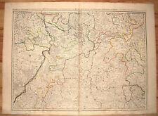 Baden-Württemberg. Rin-y Neckar-corre, etc. ORIG. grabado Jaillot 1695
