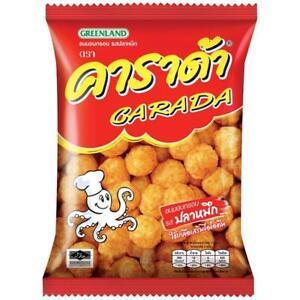 CARADA Thai Snack Baked Squid Rice Ball Cuttlefist Flavored Thailand 68g.