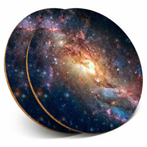 2 x Coasters - Space Nebula Galaxy Stars NASA Home Gift #15518