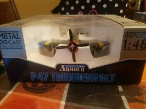 LOOK! COLLECTION ARMOUR FROM ITALY P47 THUNDERBOLT 1/48 DIECAST PLANE IS M.I.B.!