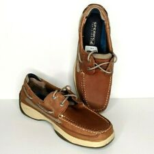 Sperry Top Sider Lanyard 2 Eye Tan Brown Boat Shoes 0777347 Mens Size 10M