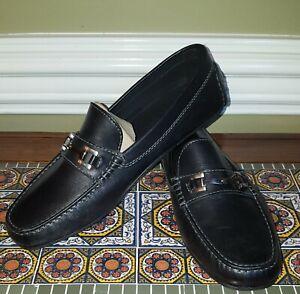 ECCO Mens Hybrid Black Brown Leather Driving Moccasin Slip On Loafer 7.5-12.5 US