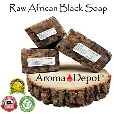 Raw African Black Soap Fresh Quality Organic Unrefined GHANA Premium Quality BAR