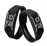 LED Armband Uhr Silikon Digital Armbanduhr Watch Kinder Unisex Fitness Sport Neu