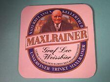 Beer Coaster ~*~ Schlossbrauerei Maxlrain Maxlrainer Leo Weisse Bier ~*~ GERMANY
