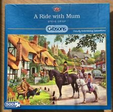 *NEW* Jigsaw Puzzle 500 Piece - A Ride With Mum - Steve Crisp - Gibsons - G3056