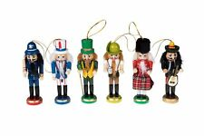 Wooden Christmas Nutcracker Ornaments by Clever Creations | Variety 6 Pack | ...