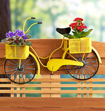 Front Porch Decor Deck Rail Planter Box Ladies Bike Design Flower Herb Garden