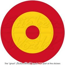 """SPAIN Spanish AirForce Aircraft Roundel 4""""(100mm) Vinyl Sticker-Decal"""