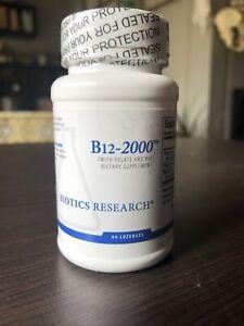 Biotics Research B12 Lozenges Vitamin B6 & B12 2000 & Folate MTHF 60 Chewables