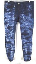 """Gap """" Always Skinny """" Jeans Sz 28 / 6 Womens Tie Dye Blue White Denim Stretch"""