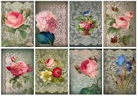 Lace & Flowers Stunning Shabby Chic Card Making Toppers