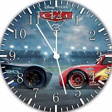 Disney Cars McQueen Wall Clock Nice For Gift or Home Office Wall Decor F35