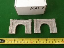 2x tunnel n scale gauge-   Fine Block stone style- PAINTED SET
