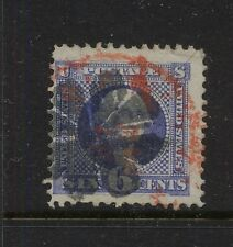 US  115   used  red and black fancy cancel   catalog  $225.00  RL1210-34