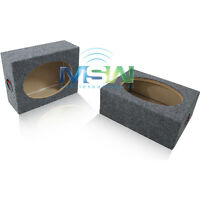 "NEW TWIN RECTANGLE 6""x9"" SEALED MDF CAR STEREO SPEAKER BOX ENCLOSURES 6x9 *PAIR*"