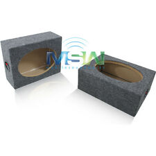 "(2) NEW SEALED 6x9 MDF CAR AUDIO SPEAKER BOX PAIR REAR-DECK 6""x9"" 6 x 9 BOXES"
