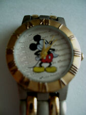 MICKEY MOUSE  2 TONE GOLD /SILVER  DISNEY @  LADIES WATCH    HEAVY DUTY  BAND H