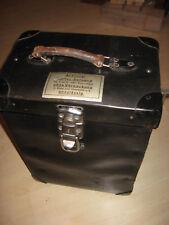 Antiker Koffer 1930.Jahre aus Vulkanfieber,Rohrplatte von Siemens-Old decora