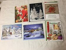 Mixed Lot of 6 Assorted Christmas Holiday New Year Peace Greeting Cards