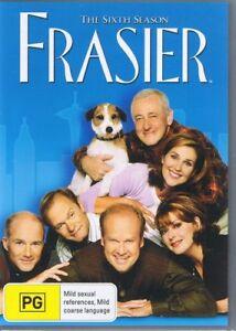 FRASIER The Sixth 6th Season 6 (4 x DVD Set) NEW & SEALED Free Post